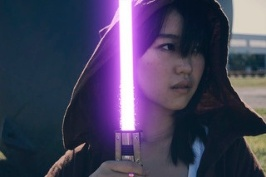 Girl with Purple Lightsaber
