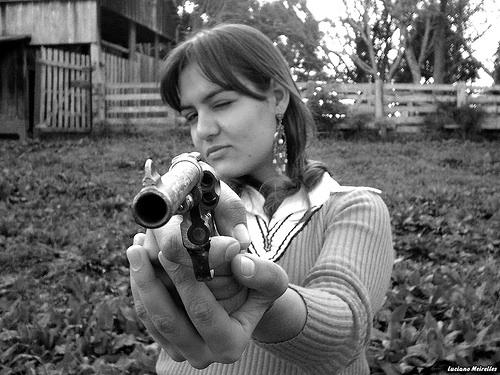 Mean Girl with Gun
