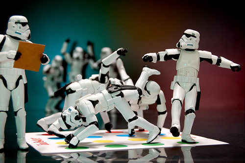 Stormtroopers Playing Twister