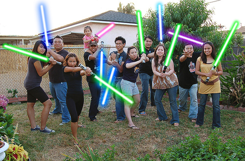 Real People with Lightsabers