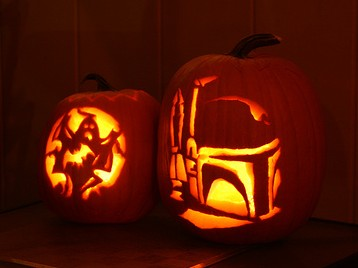 Ghost & Fett Pumpkins