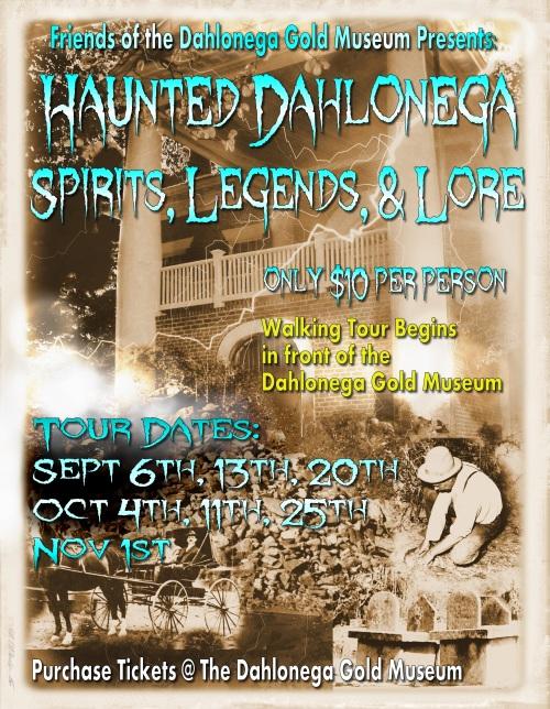 2014 Dahlonega Ghost Tour Poster
