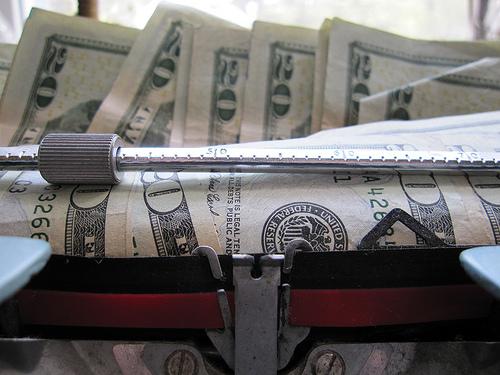 Money in Typewriter